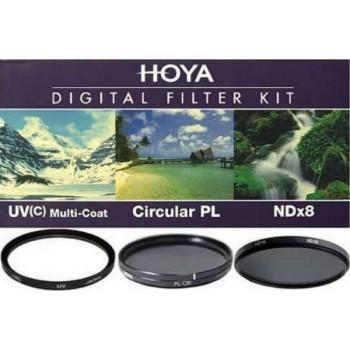 HOYA 55mm KIT II UV(C) + CIRCULAR PL + ND X8