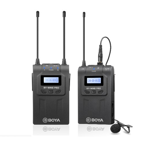 Boya BY-WM8 Pro-K1 UHF Dual-Channel Wireless Microphone System