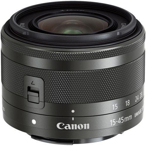 CANON EF-M 15-45MM F3.5-6.3 IS STM BlACK (Cashback για Φοιτητές -25€)