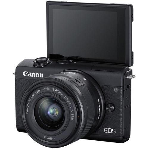 CANON EOS M200 BLACK +EF-M 15-45 F3.5-6.3 IS STM  + ΔΩΡΟ ΤΣΑΝΤΑ +32 MIKRO SD CARD