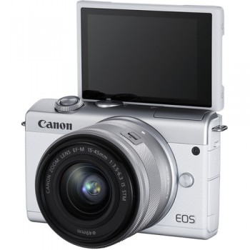 CANON EOS M200 WHITE + CANON EF-M 15-45 F3.5-6.3 IS STM .ΜΕ 12 ΑΤΟΚΕΣ ΔΟΣΕΙΣ