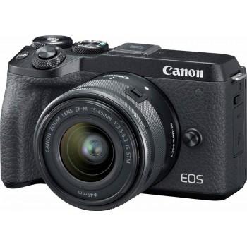 CANON EOS M6 MARK II +EFM 15-45MM F3.5-6.3 IS STM BLACK