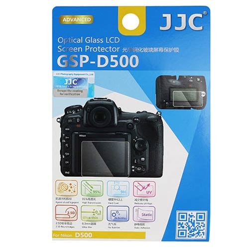 JJC GSP-D500 Optical Glass LCD Screen Protector