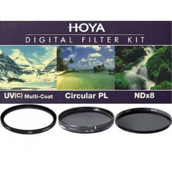 HOYA 77 mm KIT . UV(C) + CIRCULAR PL + ND X8 Φιλτρα Hoya Kit