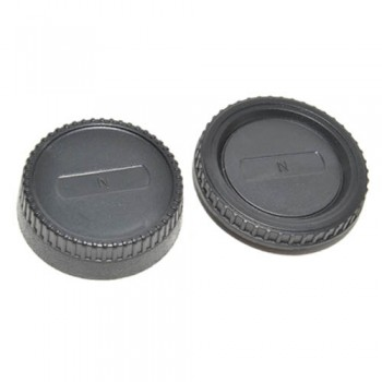 JJC L-R2 Rear Lens Cap and Body Cap for Nikon Mount Cameras ΚΑΠΑΚΙΑ ΦΑΚΩΝ