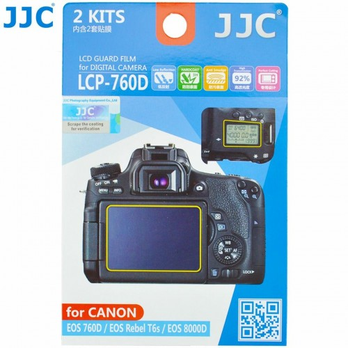 JJC LCP-760D Optical Glass LCD Screen Protector for Canon 760D,T6
